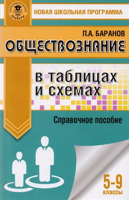 Баранов П. Обществознание в таблицах и схемах 5-9 классы цена и фото