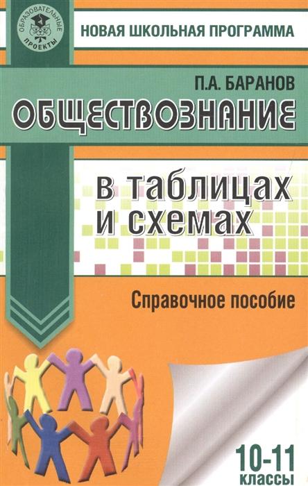 Баранов П. Обществознание в таблицах и схемах 10-11 классы Справочное пособие цена и фото