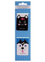 Магнитные закладки «Cute animals», голубые, 2 штуки