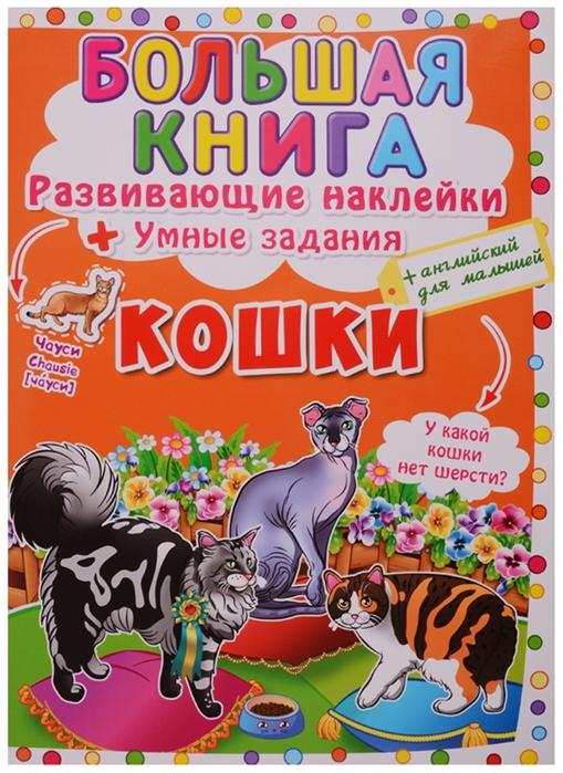 Фото - Корнева Л. (худ.) Большая книга Развивающие наклейки Умные задания Кошки английский для малышей английский для малышей буква за буквой наклейки