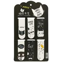 Магнитные закладки «Коты», 6 штук