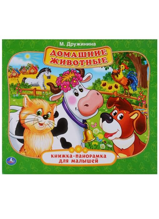 Дружинина М. Домашние животные Книжка-панорамка для малышей цена