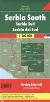 Serbia South. Road map = Южная Сербия. Дорожная карта. 1:200 000