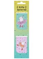 Магнитные закладки «Kitty ballerina», 2 штуки