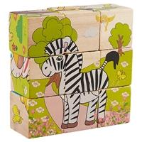 Кубики «Животные», 10 х 10 х 3 см, 9 штук