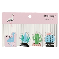 Магнитные закладки «Фламинго и кактусы», 4 штуки