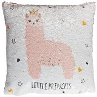 Подушка с пайетками «Лама»