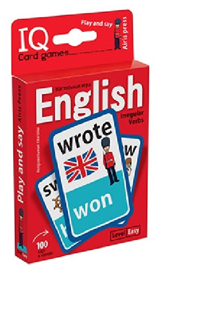 Степичев П. IQ Card games English Irregular verbs Easy Level 100 карт пархамович татьяна васильевна стикербук english irregular verbs