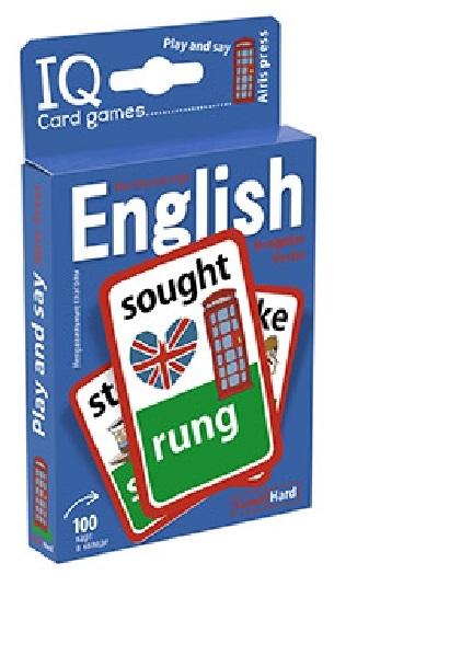 Степичев П. IQ Card games English Irregular verbs Hard Level 100 карт