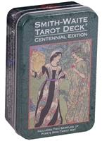Smit Waite centennial desk Tarot in a Tin / Таро Уэйта-Смитт Памеллы (карты + инструкция на английском языке в жестяной коробке)