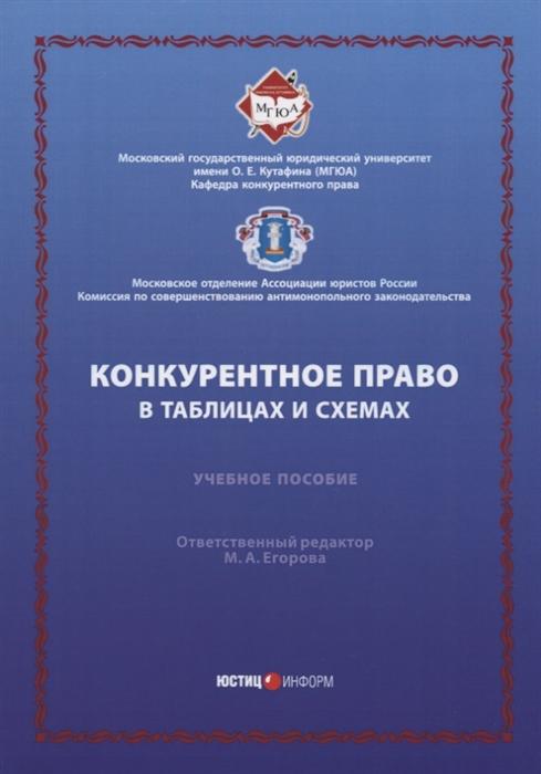 Егорова М. (отв. ред.) Конкурентное право в таблицах и схемах Учебное пособие цена