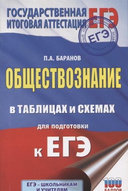 Баранов П. ЕГЭ Обществознание в таблицах и схемах для подготовки к ЕГЭ