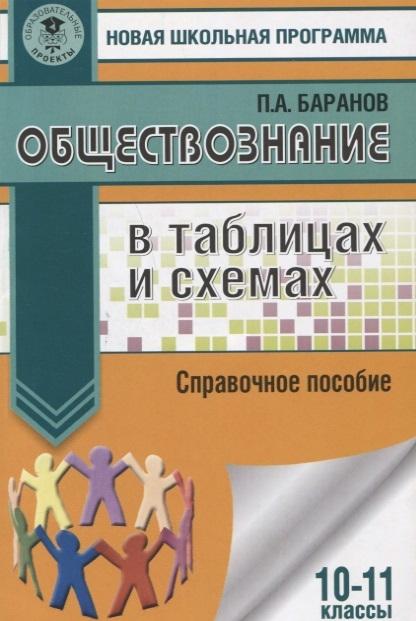 Баранов П. Обществознание в таблицах и схемах Справочное пособие 10-11 классы цена и фото