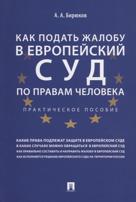 Бирюков А. Как подать жалобу в Европейский суд по правам человека Практическое пособие