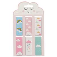 Магнитные закладки «Cloud style», 6 штук