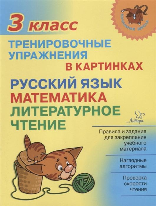 Ушакова О. Русский язык математика литературное чтение 3 класс Тренировочные упражнения в картинках о в чистякова математика за 10 дней 3 класс