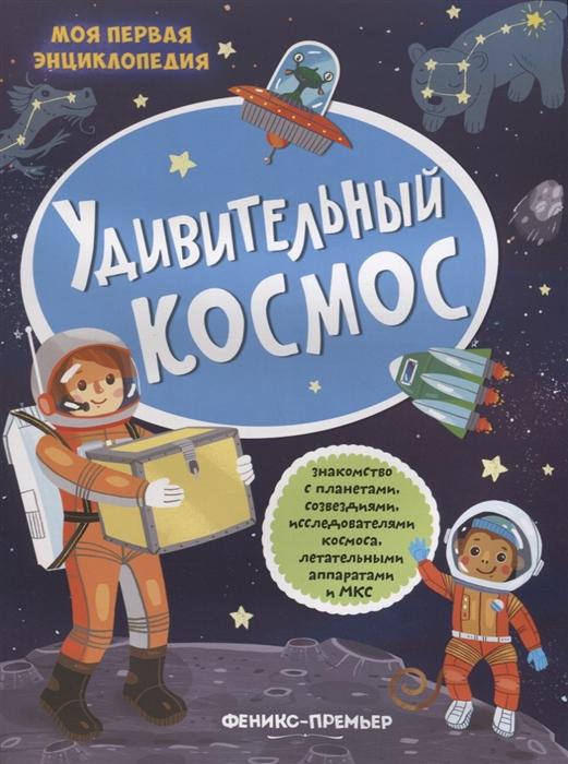Купить Удивительный космос книжка с наклейками, Феникс, РнД, Первые энциклопедии для малышей (0-6 л.)