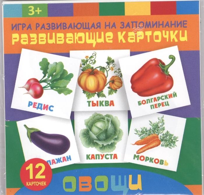 все цены на Овощи Игра развивающая на запоминание Развивающие карточки онлайн