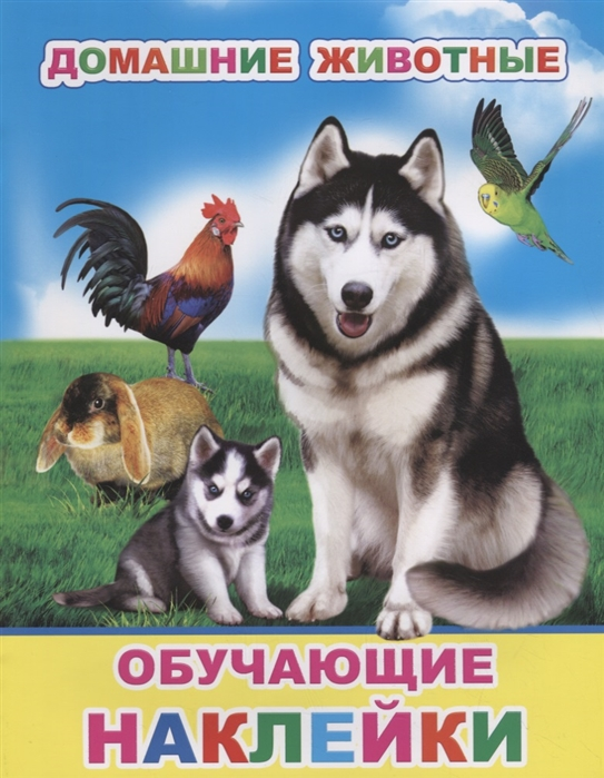 Домашние животные Обучающие наклейки