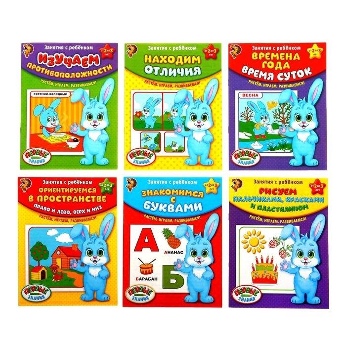 обучающие книги Обучающие книги Полный годовой курс Занятия с ребенком от 2 до 3 лет Комплект из 6 книг