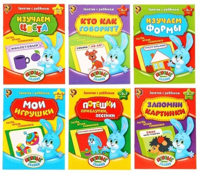 обучающие книги Обучающие книги Полный годовой курс Занятия с ребенком от 0 до 1 года Комплект из 6 книг