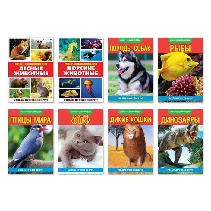 Купить Набор мини-энциклопедий Узнаем про все вокруг Живая природа Комплект из 8 книг, БУКВА-ЛЕНД, Первые энциклопедии для малышей (0-6 л.)