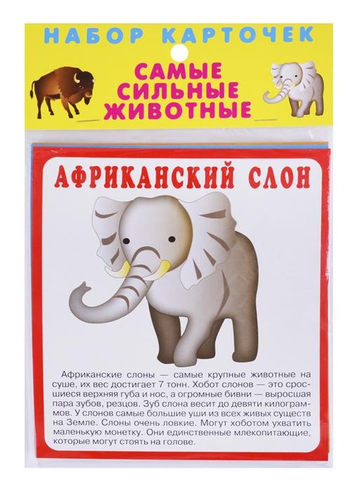Немирова Г. (худ.) Набор карточек Самые сильные животные немирова г илл игрушки