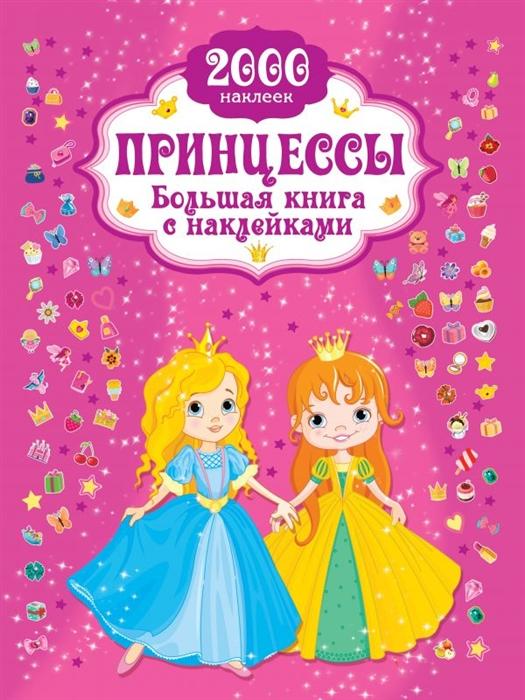 Дмитриева В. Принцесса Большая книга с наклейками