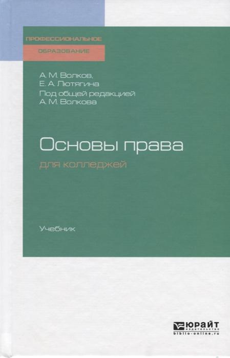 Волков А., Лютягина Е. Основы права для колледжей Учебник
