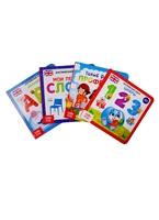 """Набор картонных книг """"Учим английский язык и профессии"""" (комплект из 4 книг)"""