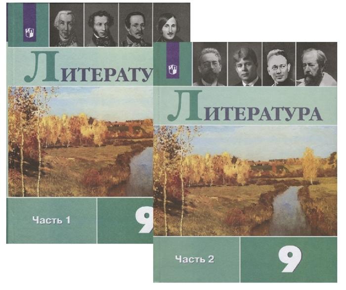 Литература 9 класс Учебник В двух частях комплект из 2 книг Просвещение
