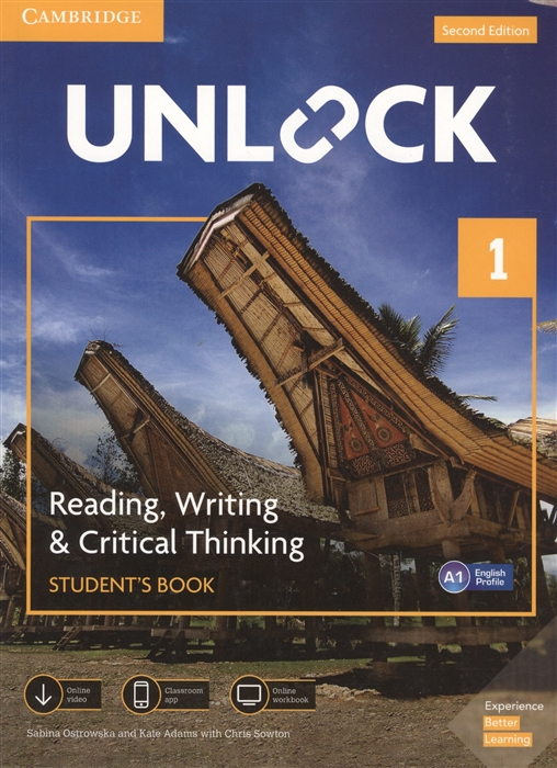 Фото - Ostrowska S., Adams K., Sowton Ch. Unlock Level 1 Reading Writing Critical Thinking Student S Book English Profile A1 cambridge english prepare level 4 student s book