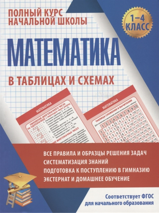 Латышева Н. Математика в таблицах и схемах для учащихся начальных классов 1-4 класс жуковина е русский язык в таблицах и схемах для учащихся начальных классов