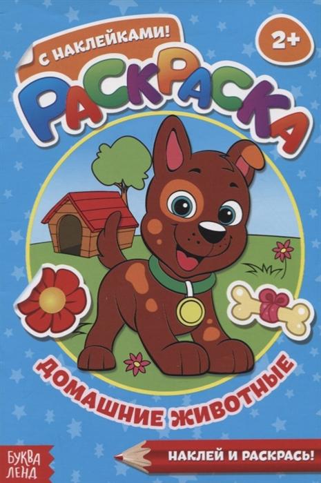 Купить Раскраска с наклейками Домашние животные, БУКВА-ЛЕНД, Раскраски
