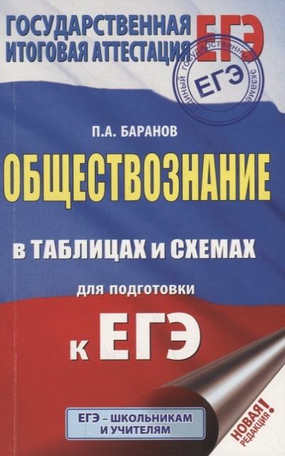 Баранов П. ЕГЭ Обществознание в таблицах и схемах для подготовки к ЕГЭ 10-11 классы цена в Москве и Питере