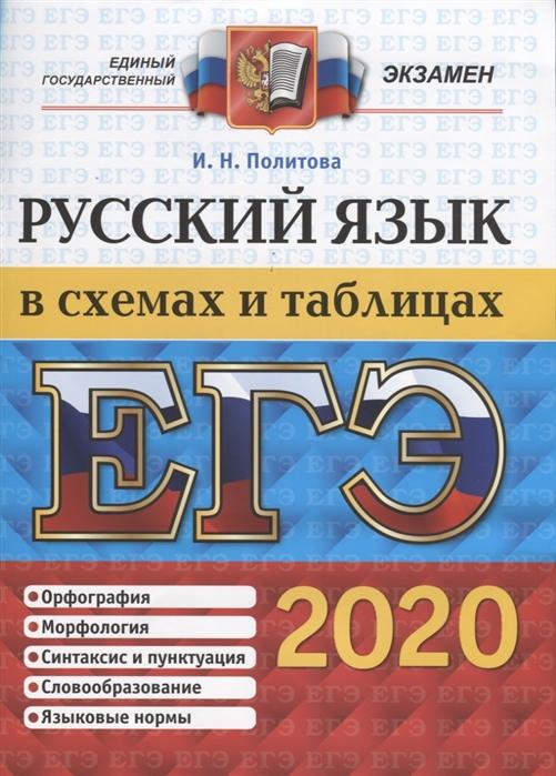 Политова И. ЕГЭ 2020 Русский язык в схемах и таблицах цены онлайн