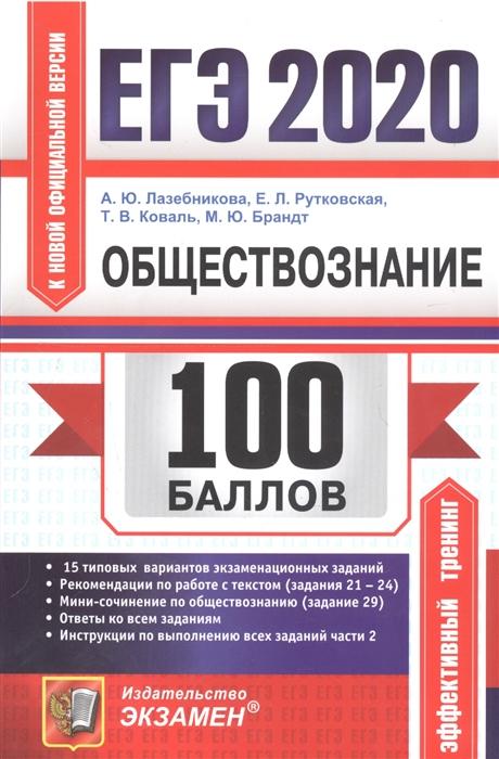 Лазебникова А. и др. ЕГЭ 2020 100 баллов Обществознание Подготовка к ЕГЭ история обществознание подготовка к егэ