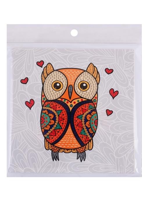 Алмазная мозаика открытка своими руками сова