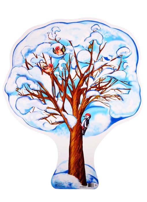Зимнее дерево рисунок для детей