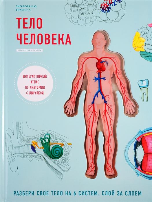 Билич Г., Зигалова Е. Тело человека Интерактивный атлас по анатомии с вырубкой Разбери свое тело на 6 систем Слой за слоем