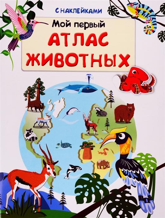Авакумова Е. Мой первый атлас животных с наклейками clever энциклопедия с наклейками атлас животных