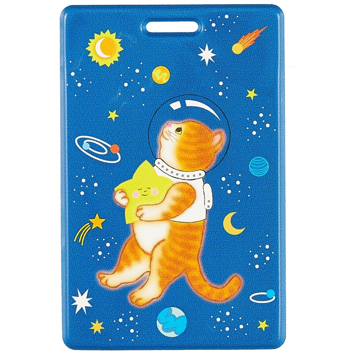 Чехол для карточек «Котик со звездой в космосе», 10 х 6.5 см. «Читай-город»