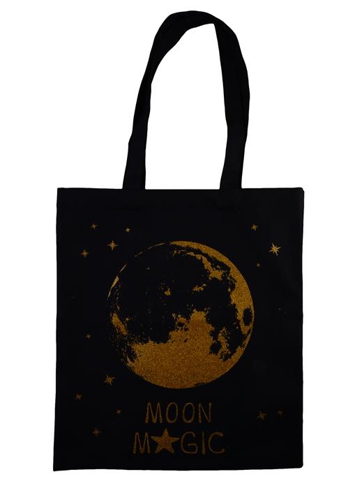 """Сумка """"Moon magic"""", золотой глиттер, 40х32 см. «Читай-город»"""