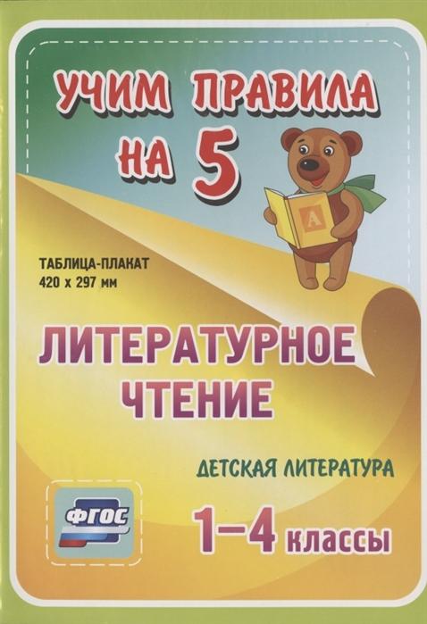 Литературное чтение Детская литература 1-4 классы Таблица-плакат