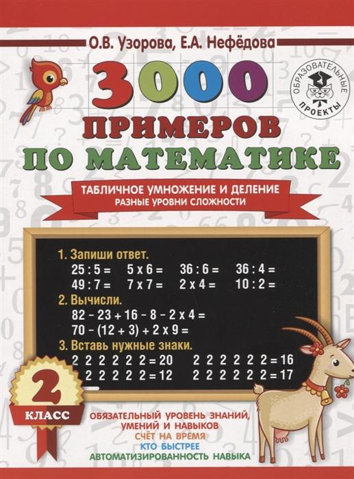 Фото - Узорова О.., Нефедова Е. 3000 примеров по математике Табличное умножение и деление Разные уровни сложности 2 класс о в узорова табличное умножение быстрый счёт 2 класс