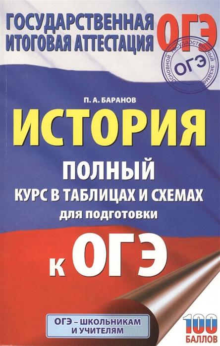 Баранов П. История Полный курс в таблицах и схемах для подготовки к ОГЭ 6-9 классы недорого