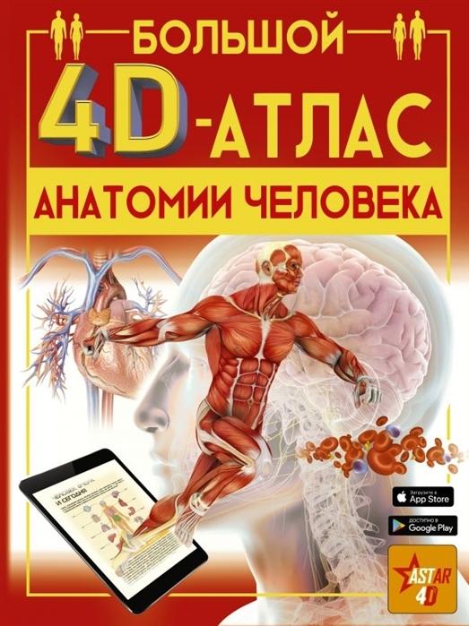 Купить Большой 4D-атлас анатомии человека, АСТ, Естественные науки