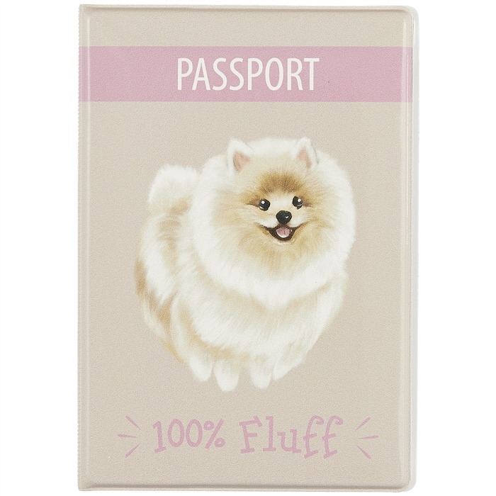 Обложка для паспорта 100% Fluff (шпиц) (ПВХ бокс). «Читай-город»