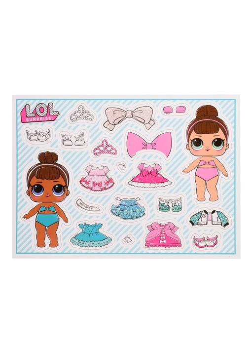 Купить Раскраска с магнитной одевашкой L O L Surprise Маленькие модницы, НД Плэй, Раскраски