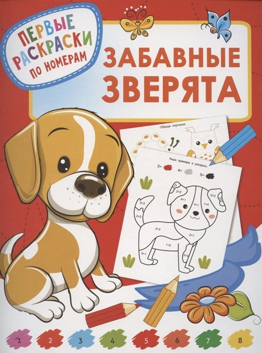 Купить Забавные зверята Первые раскраски по номерам, АСТ, Раскраски